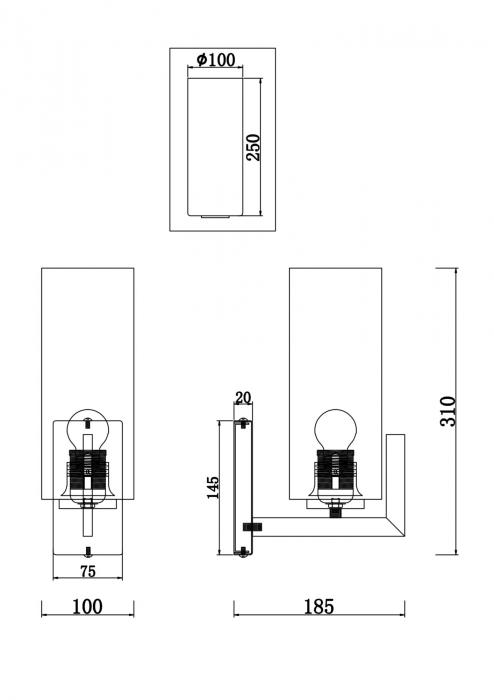 APLICA FORTANO AP1 - MOD089wL-016BS - MAYTONI [2]
