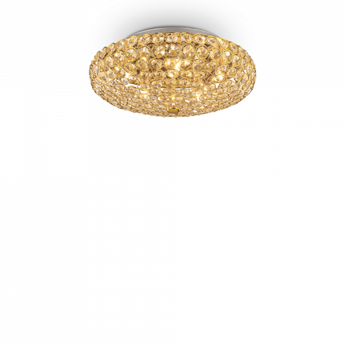 PLAFONIERE MODERNE KING PL5 ORO - IDEAL-LUX [0]