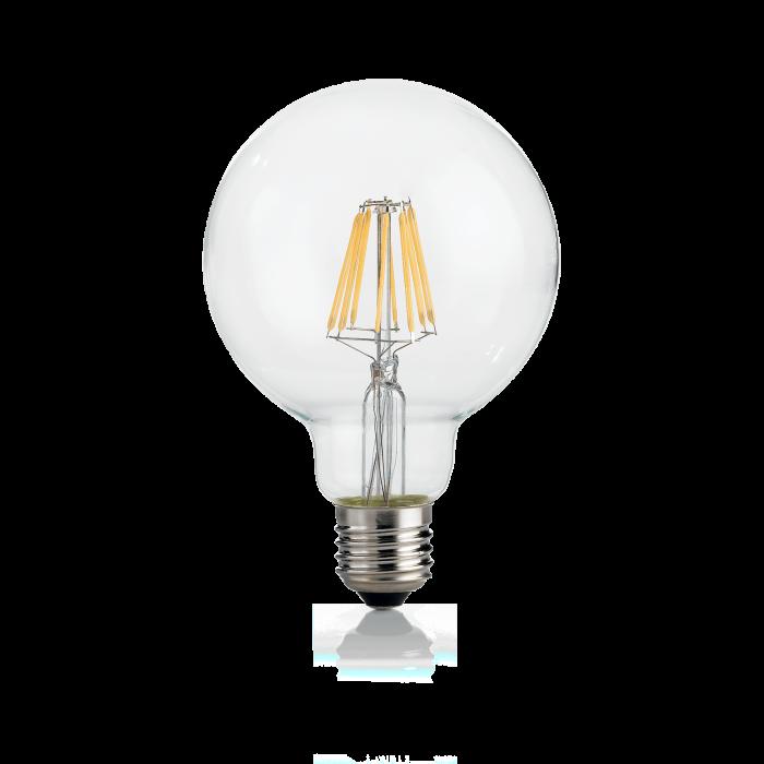 LAMPADINA CLASSIC E27 08W GLOBO D095 TRASP 3000K [0]