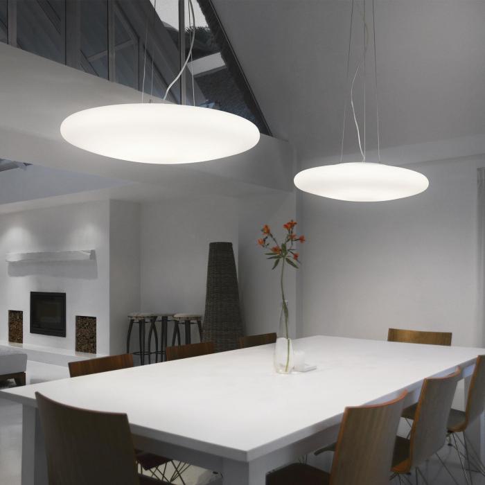 SUSPENSIE MODERNA SMARTIES BIANCO SP5 D60 - IDEAL-LUX [1]