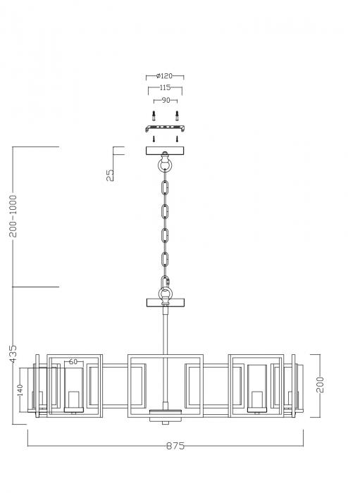 CANDELABRU CLASIC BOWI SP8 - H009PL-08G [2]