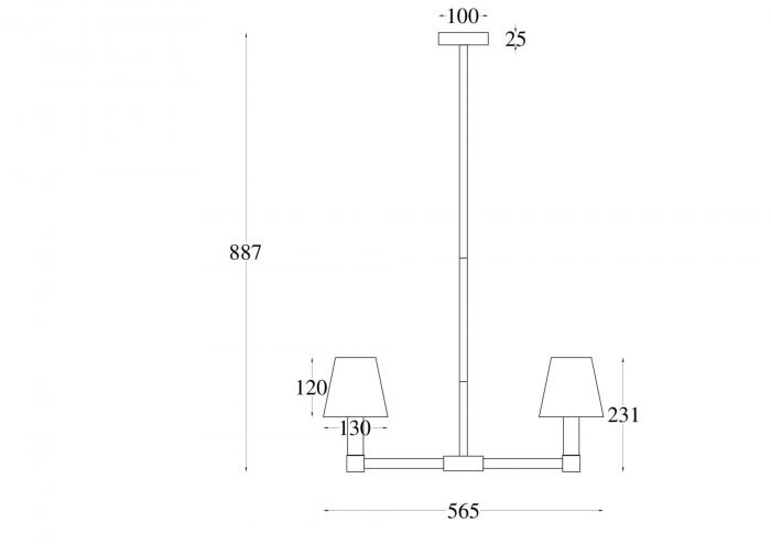 CANDELABRU TET A TET 5 BECURI - MOD104PL-05B MAYTONI [1]