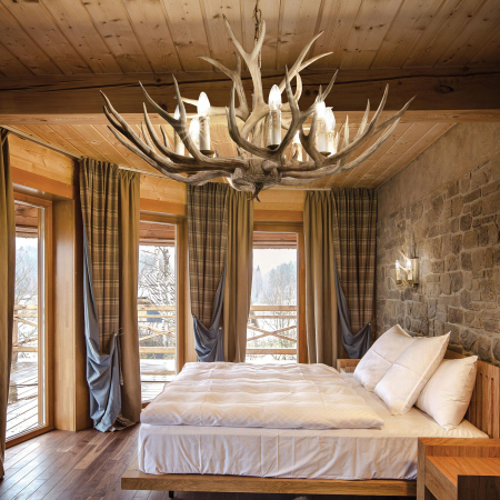 LUSTRA RUSTICA - CHALET SP8 - IDEAL-LUX [1]