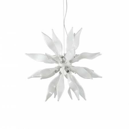 SUSPENSIE MODERNA LEAVES SP8 BIANCO - IDEAL-LUX [0]