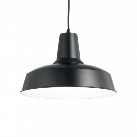 LUSTRA SIMPLA CLASIC- RUSTIC MOBY SP1 NERO - IDEAL-LUX [0]