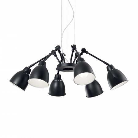 LUSTRA CLASICA INDUSTRIAL STYLE - NEWTON SP6 - IDEAL-LUX [0]