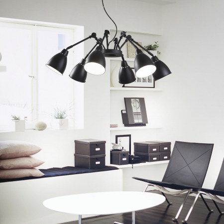 LUSTRA CLASICA INDUSTRIAL STYLE - NEWTON SP6 - IDEAL-LUX [1]