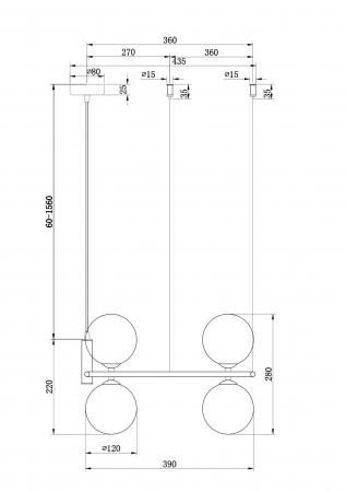 SUSPENSIE MODERNA ALAMA - RING MOD013PL-04BS [1]