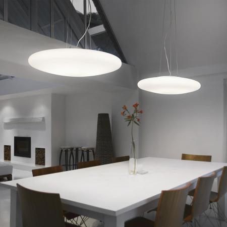 SUSPENSIE MODERNA SMARTIES BIANCO SP3 D40 - IDEAL-LUX [1]