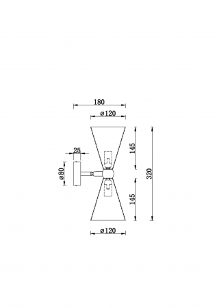 APLICA MODERNA VESPER MOD108WL-02GB/GW [1]