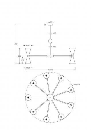 CANDELABRU VESPER 18 BECURI MOD108PL-18WG/BG [1]