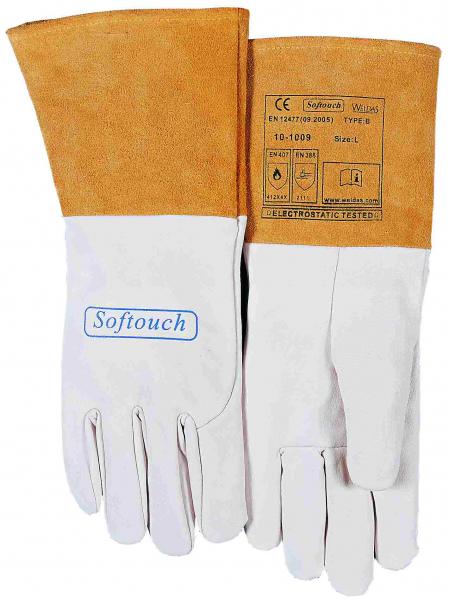 10-1009-SOFTouch™ mănuşă de sudură din piele box uşoara de capră 1