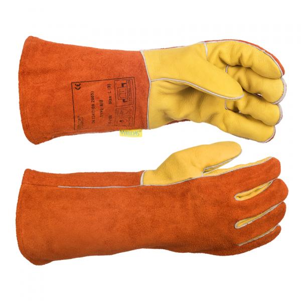 10-2150-Mănuşă de sudură cu palma din piele box de vită 0