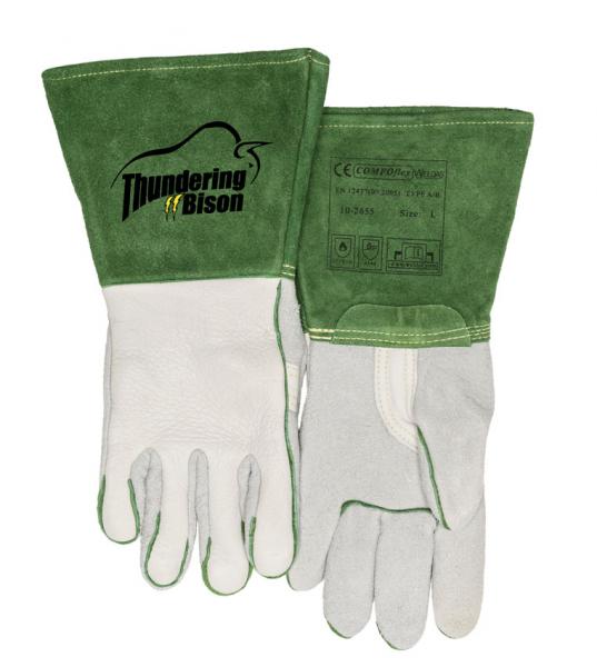 10-2655-ThunderingBison™ mănuşă de sudură cu întăritură în palmă 1
