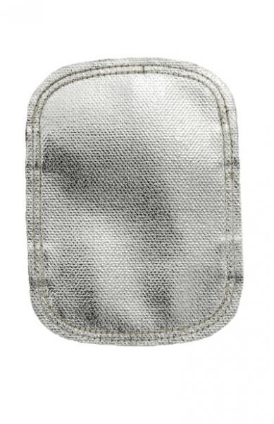 Protecţie aluminizată pentru mâna la stropire intensă cu metal topit din fibră de sticlă, partea dorsală din fibră de sticlă neagră 1