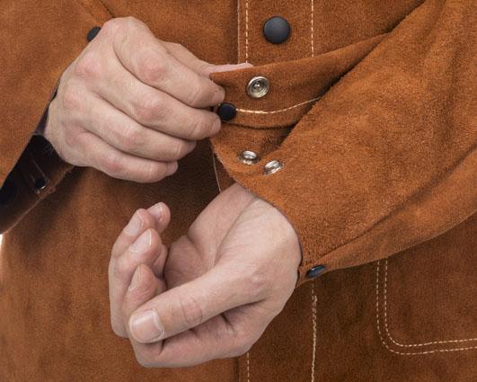 Jachetă de sudură cu partea frontală din şpalt de vită şi partea dorsală din bumbac ignifug 44-7300/P Lava Brown™ [3]