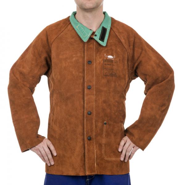 Jachetă de sudură cu partea frontală din şpalt de vită şi partea dorsală din bumbac ignifug 44-7300/P Lava Brown™ [0]