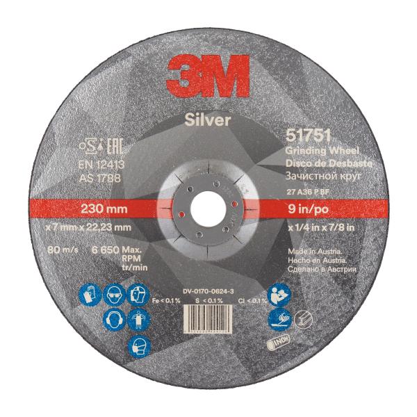 Disc polizare 3M Silver 230x7,0x22,23 T27 cu particule ceramice 0