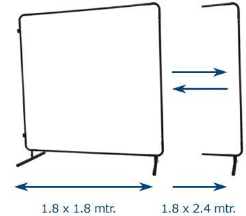 Ramă modulară COMBOframe™ 1,8 x 1,8 m sau 1,8 x 2,4 m inclusivc element de prindere [2]