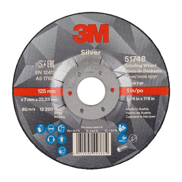 Disc polizare 3M Silver 125x7,0x22,23 T27 cu particule ceramice 0