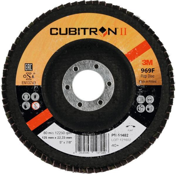Discuri Lamelar frontale 3M™ Cubitron™  II 969F 125x22 FLAT 0