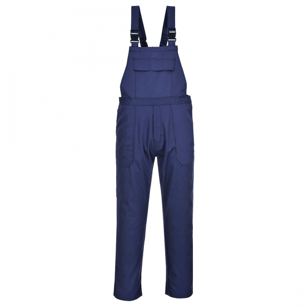Pantaloni cu pieptar protectie ignifuga Bizweld Navy [0]