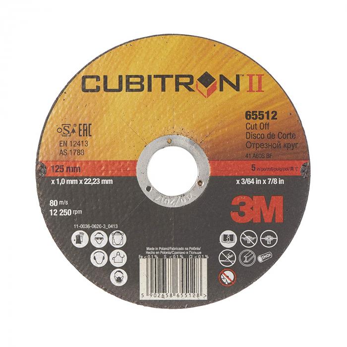 Disc debitare 3M™ Cubitron™ II T41, 125 mm x 1 mm x 22.23 mm, A60 [0]