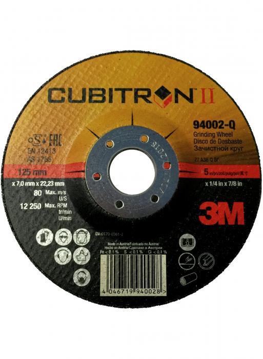 Disc de polizare 3M™ Cubitron™ II T27, 125 mm, A36 [0]