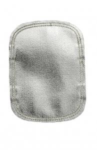 Protecţie aluminizată pentru mâna la stropire intensă cu metal topit din fibră de sticlă, partea dorsală din fibră de sticlă neagră1