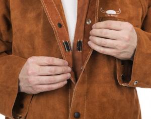 Jachetă de sudură cu partea frontală din şpalt de vită şi partea dorsală din bumbac ignifug 44-7300/P Lava Brown™ [2]