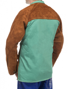 Jachetă de sudură cu partea frontală din şpalt de vită şi partea dorsală din bumbac ignifug 44-7300/P Lava Brown™ [1]