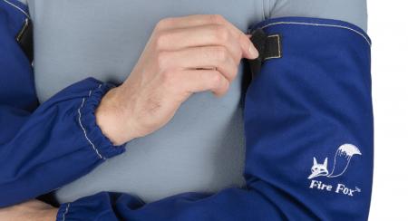 Mâneci de sudură din bumbac ignifug albastru (pereche) [1]