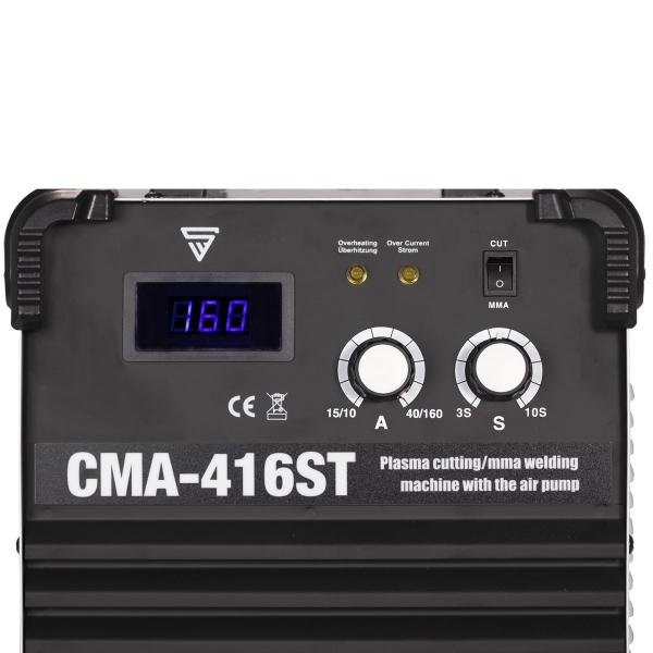 Multifunkciónális MMA/Plazma (kompresszoros) hegesztő inverter CMA-416 ST 1