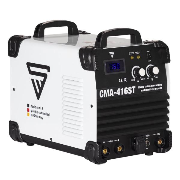 Aparat de sudura MMA si plasma cu compresor incorporat CMA 416 ST 0