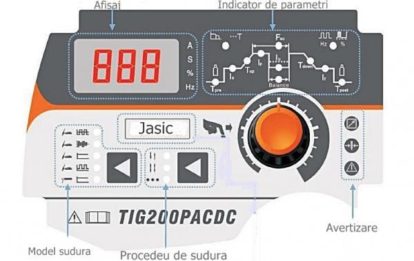 JASIC TIG 200P AC/DC cu pedala - Aparat de sudura TIG AC/DC 1