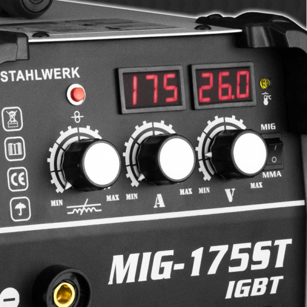 Aparat sudura profesional pentru sudura MIG/MMA 175 Stahlwerk complet 4
