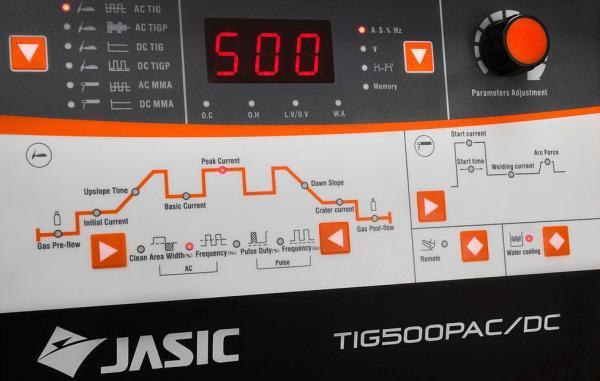 TIG 500P AC/DC (E1312) racit cu apa - Aparat de sudura TIG AC/DC JASIC 1