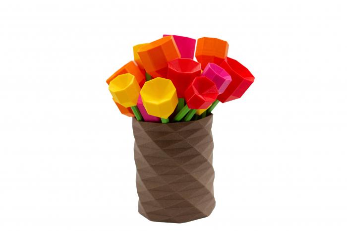 3D Lego Tulip - rosu [3]