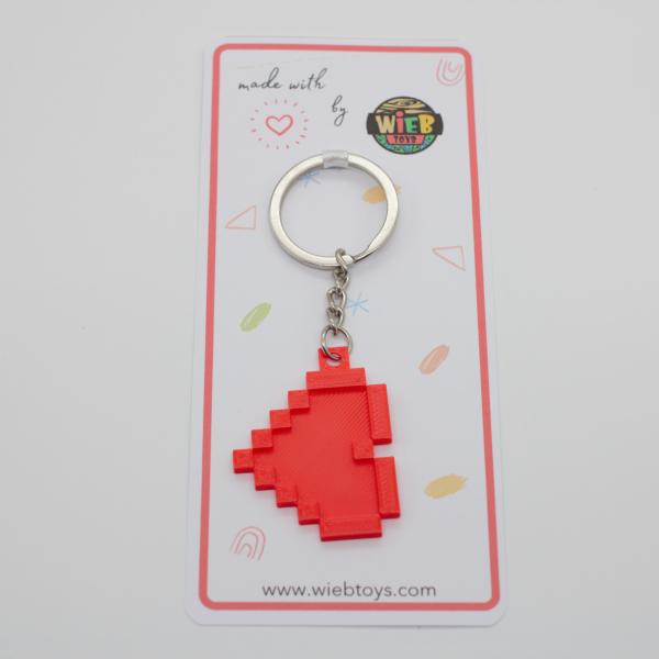 8-bit Heart keychain [1]