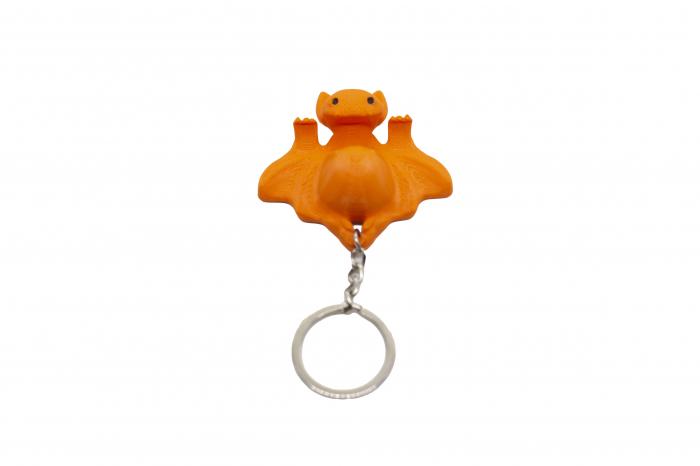 Bat keychain & phone stand - Portocaliu [0]