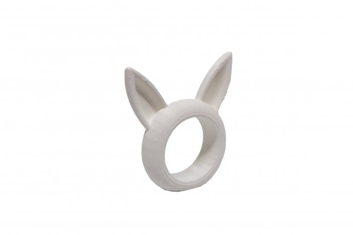 Bunny Napkin ring - alb [0]