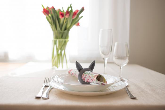 Bunny Napkin ring - argintiu [5]
