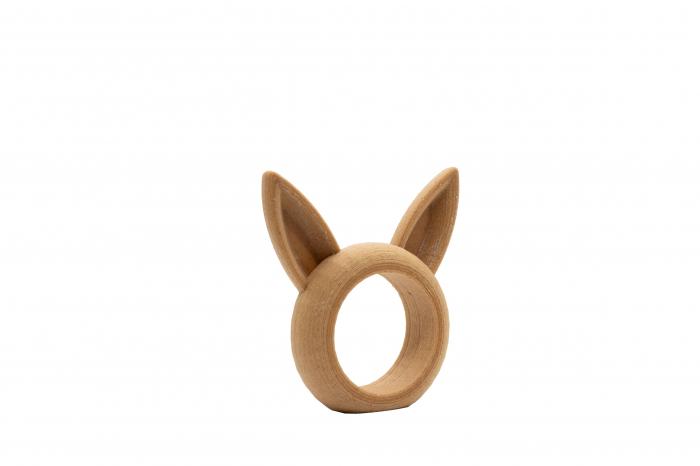 Bunny Napkin ring - lemn [1]