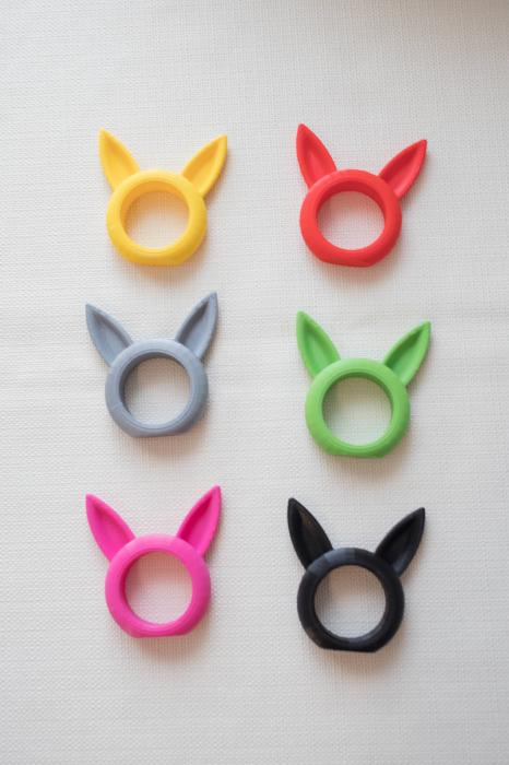 Bunny Napkin ring - pink [6]