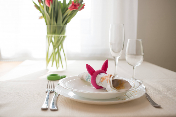 Bunny Napkin ring - pink [3]