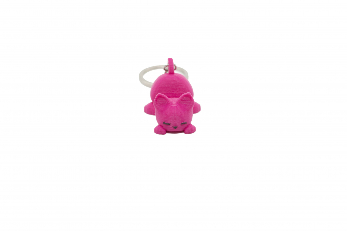 Cat keychain & phone stand - Pink [0]