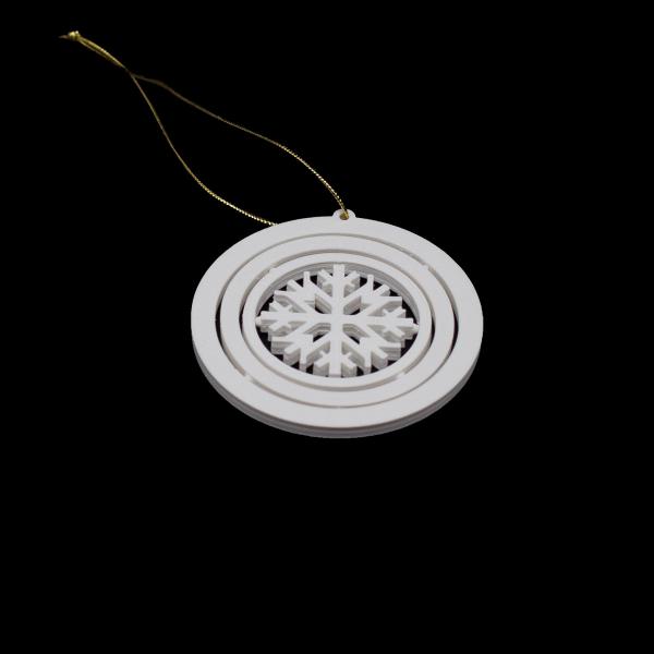 Decoratiune de Brad WiEB Fulg de zapada 3D - ALB [1]