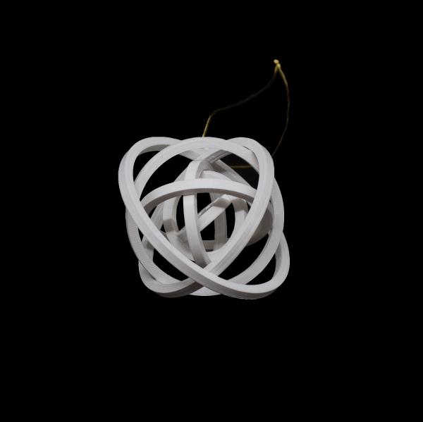 Decoratiune de Brad WiEB - Glob cu stea 3D - ALB [1]