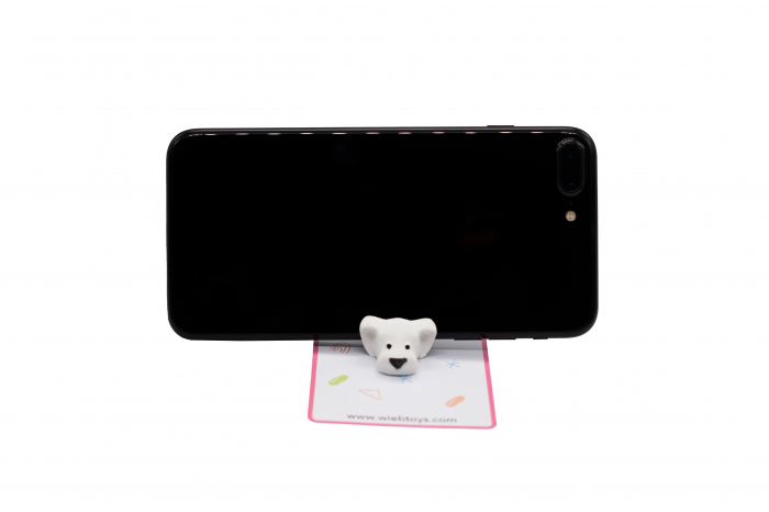 Dog keychain & phone stand - Alb [1]