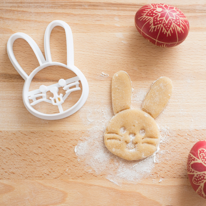 Easter's cookie cutter - Happy bunny face [2]